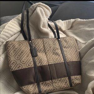 Coach Lozenge Khaki brown Tote purse